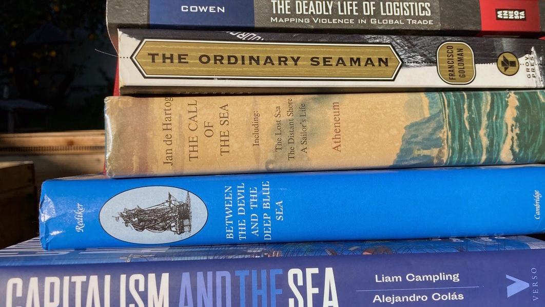 Pile of sea shanty books