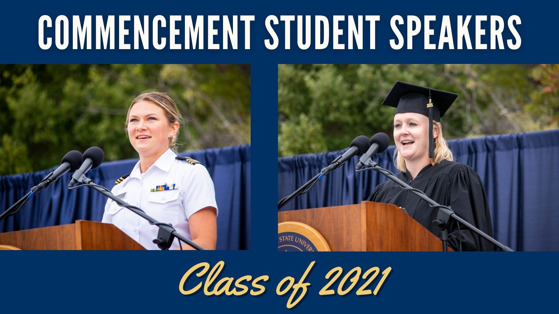 Commencement student speakers