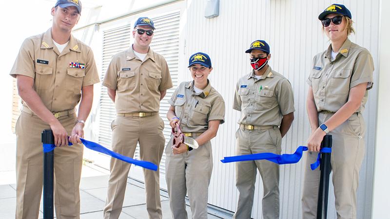Cadets cutting ribbon